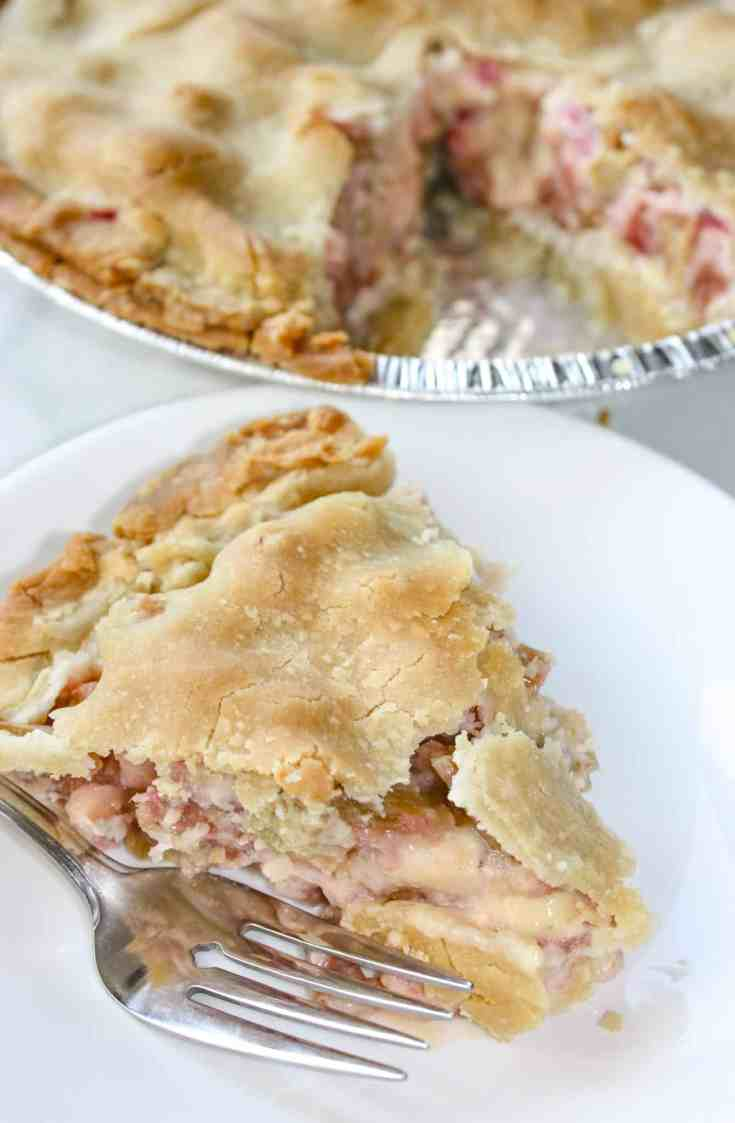 Gluten Free Rhubarb Pie is a blend of sweet and slightly tart flavouring.  I look forward to this tasty dessert every year when this spring vegetable is harvested from the garden.
