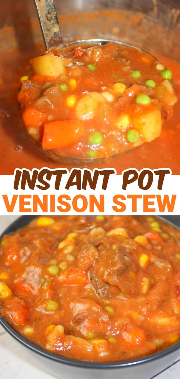 Instant Pot Venison Stew is an easy pressure cooker recipe. It is a great way to use up some venison round steak that we have in abundance thanks to a successful hunting season.