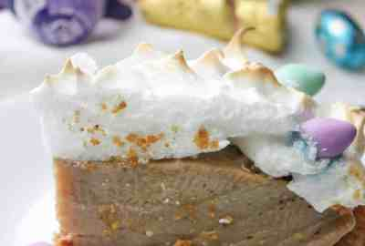 Easter Egg Pie can be a fun and colourful addition to your holiday dessert options. This gluten free dessert recipe incorporates my favourite Easter treat in the filling...Cadbury Creme eggs!
