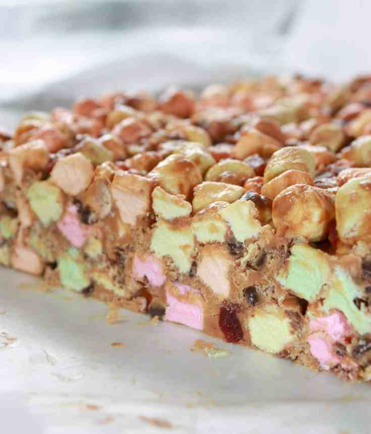 Loaded Peanut Butter Marshmallow Squares are a delicious variation of the Butterscotch Confetti that I grew up with.
