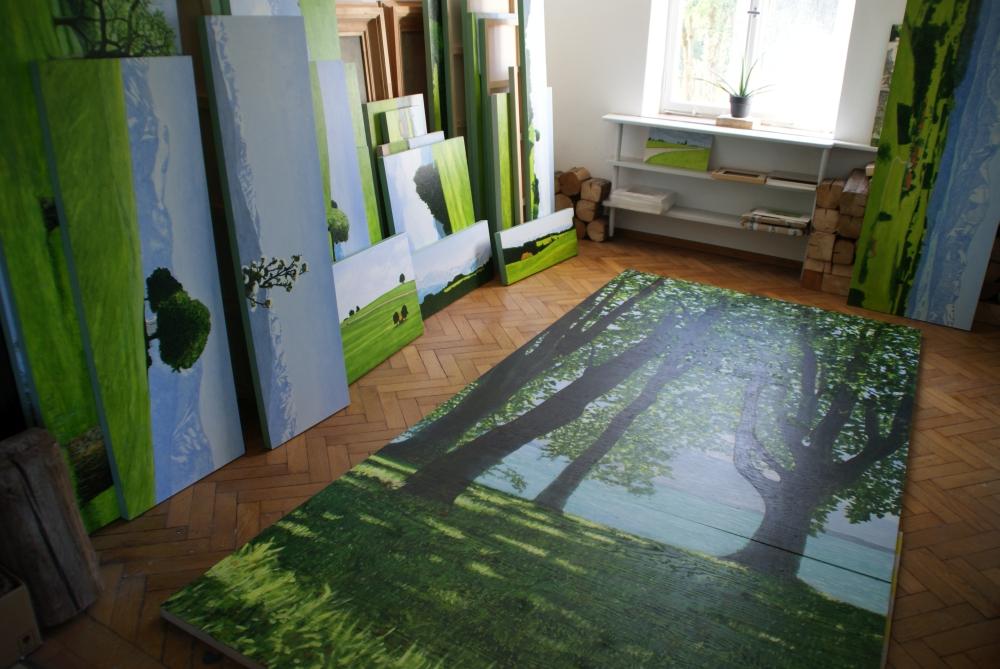 Die Räumlichkeiten der Farny Villa dienen heute als Atelier