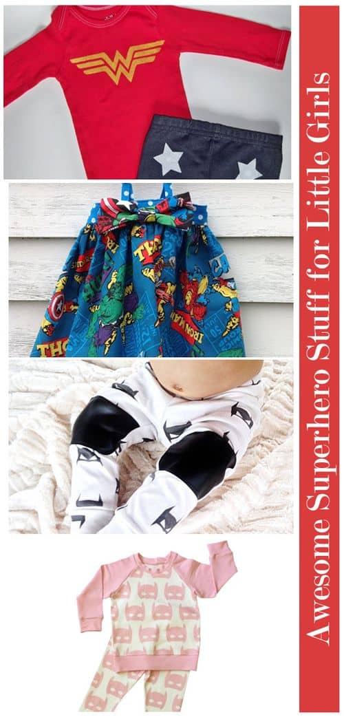 Awesome Superhero Stuff for Little Girls: Clothes #GirlsLoveSuperheroesToo
