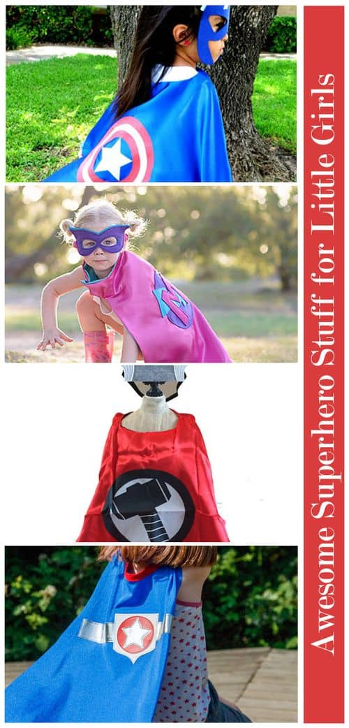 Awesome Superhero Stuff for Little Girls: Capes #GirlsLoveSuperheroesToo