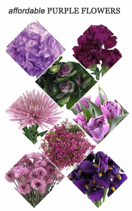 Affordable Purple Flowers for Your Wedding #flowers #bouquet #centerpieces #ceremony #purple #reception #wedding