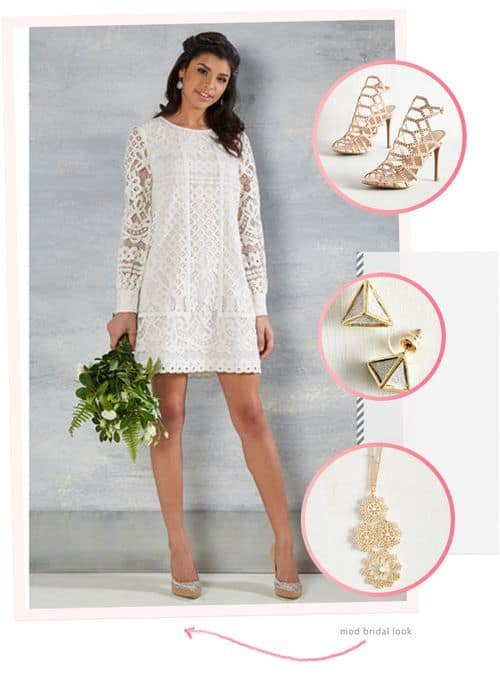 Awesome and Affordable Dresses and Accessories from the New ModCloth Wedding Line: Mod Bridal Look #bride #weddinggown #bridalgown #wedding dress