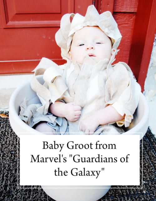 Finn's 2016 Halloween Costume: Baby Groot from Marvel's Guardians of the Galaxy