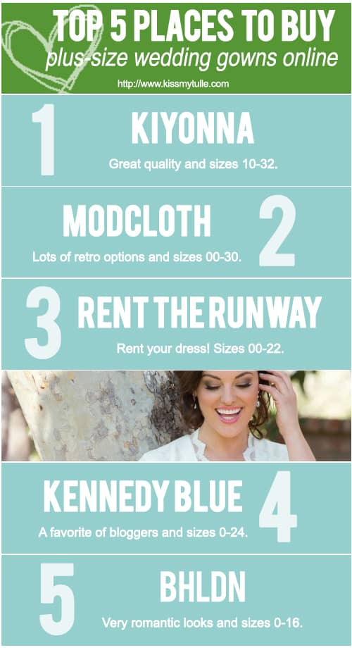 Top 5 Places to Buy Plus-Size Wedding Gowns Online