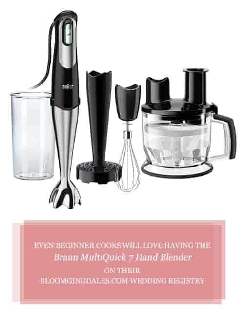 Even Beginner Cooks Will Love Having The Braun MultiQuick 7 Hand Blender On Their Bloomgingdalescom Wedding Registry #ad @braunhousehldna #weddingregistry