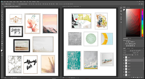 Create The Perfect Marriage Of Art With A Gallery Wall Featuring Minted