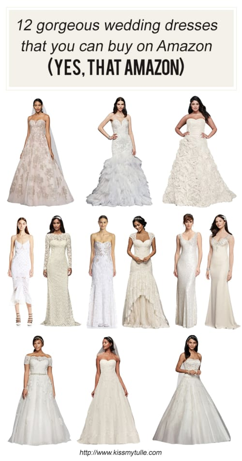 Don't suffer from FOMO! Here's 12 Gorgeous Wedding Dresses That You Can Buy On Amazon (Yes THAT Amazon)