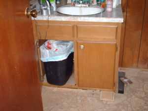 Master Bathroom Vanity Before