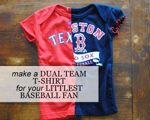 DIY: Make a Dual Team T-shirt for your Littlest Baseball Fan