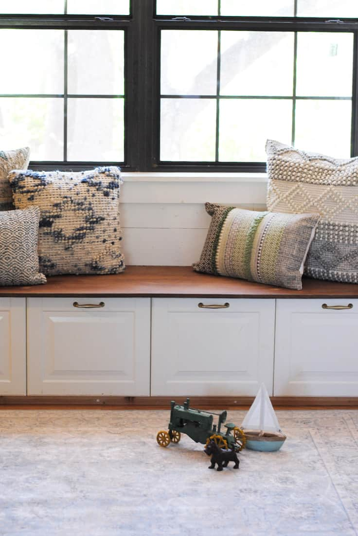 how to build a banquette in your kitchen featuring magnolia home at pier 1 - Home Improvement Design