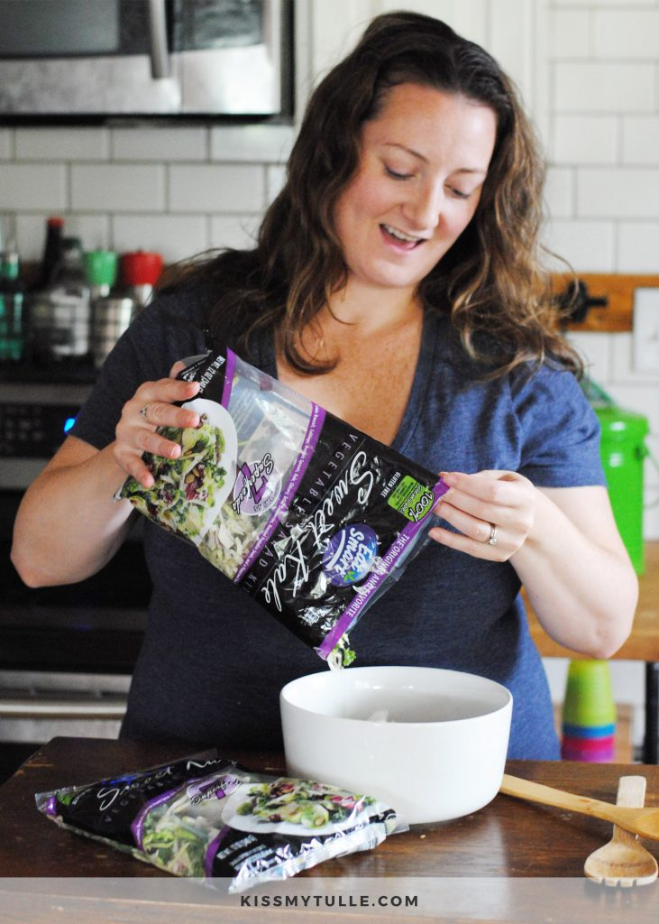 Sweet Kale Salad Kit from Walmart Makes My Dinner Routine Easier #ad #EatCleanSalads #IC