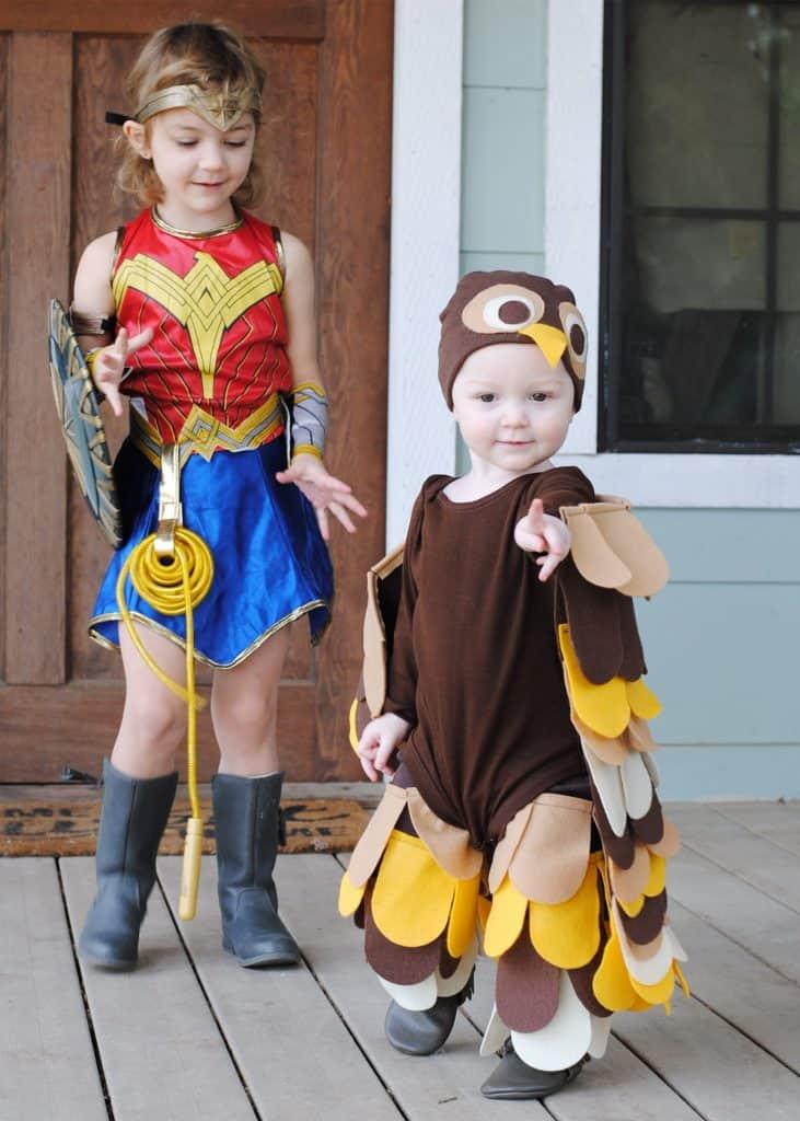 Felt Owl Halloween Costume Tutorial #ad #handmade #DIY #Halloween #baby #toddler #kid #owl #costume #Cricutmade #cricut #cricutmaker #felt