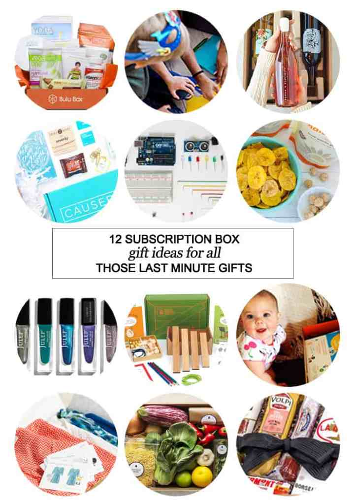 12 Subscription Box Gift Ideas For All Those Last Minute Gifts