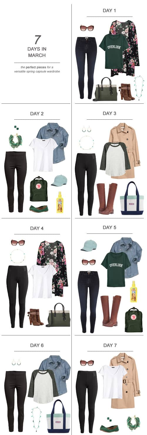 7 Days in March : The Perfect Pieces for a Versatile Spring Capsule Wardrobe #ootd #March #capsulewardrobe #sahm #ad Get a jump on sunnier days and get an early start on a lighter, brighter look with Sun In. It's easy to create golden highlights at home with just your hairdryer and a bottle ofalcohol freeSun In- it conditions while bringing out your natural highlights. And remember, Sun Inisn't only for blondes - I use it on my on medium-brown hair. #PowerPrimper #SunInFunIn