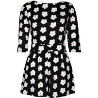 Boohoo Summer Monochrome Daisy Playsuit