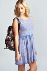 Lola Frill Hem Skater Dress