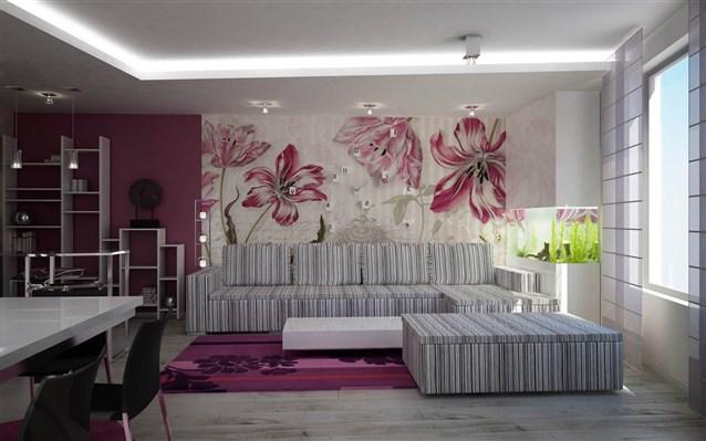 ورق جدران ثلاثي الابعاد احدث صيحات ورق الجدران ثلاثي الابعاد دلع ورد