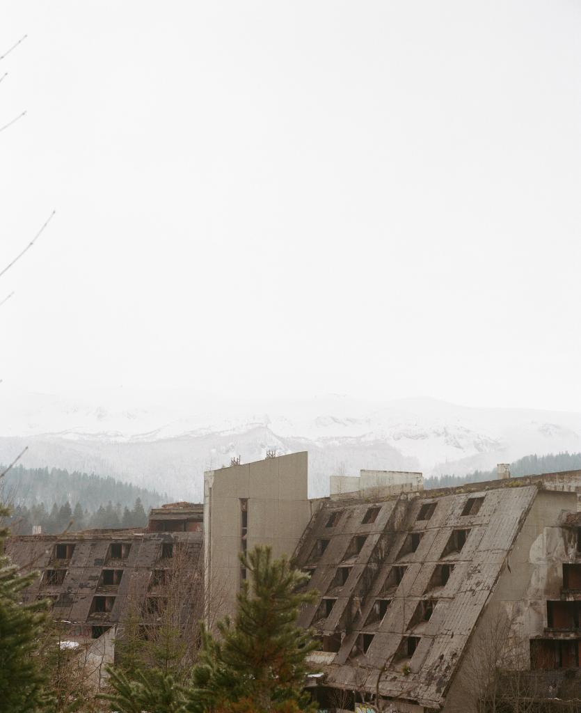 Igman Mountain: Hotels falling apart close to the Olympic Ski Jumps in Sarajevo