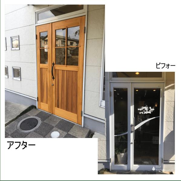 木製ドアに交換