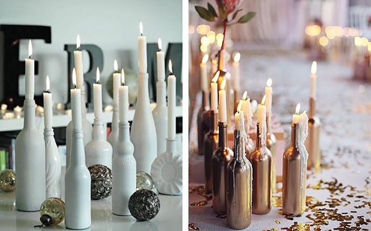 Beyaz veya altın renkler böyle bir fikir için çok uygundur.