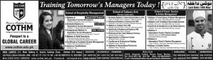 Admission in COTHM College, Hospitality & Tourism Management, Graduate, Postgraduate Diploma