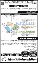 Frontier Works Organization FWO Jobs 2014 NTS Test Eligibility and Registration Procedure Schedule | NTS Test 2014 Answer Key Result