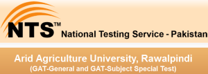 NTS GAT-General and GAT-Subject Special Test 2014-15 for Arid Agriculture University, Rawalpindi