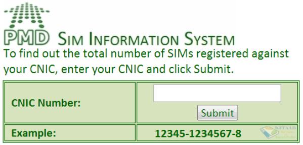 PTA Online SIM Information & Verification Process Ownership Registration