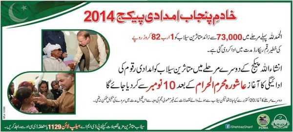 CM Punjab PDMA Flood Relief Fund Help Package City & Area Wise Schedule Provincial Disaster Management Authority