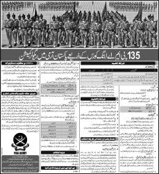 Join Pak Army 2014 Through 135 PMA Long Course Registration Online Status ISSB Test Call Letter Regular Commission