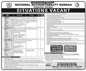 NAB Jobs 2015 Application Form Eligibility Criteria Written NTS Test National Accountability Bureau