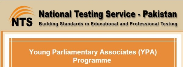 Young Parliamentary Association YPA Program Jobs 2016 NTS Test Answer Key Result Announced.