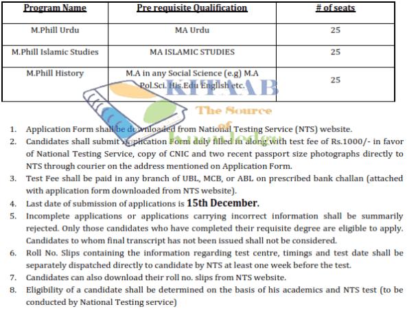 GC Mandi Bahauddin Admission NTS Test 2017 Application Form Eligibility Criteria Last Date