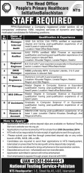 Head Office People's Primary Healthcare Balochistan PPHI Jobs 2014-15 NTS Test Application Form Eligibility Last Date