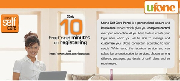 Ufone Self Care Service Sign Up New Login Account Help Check your Details Online