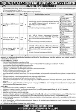 Faisalabad FESCO Jobs 2021 NTS Test Application Form Online Dates and Schedule Eligibility