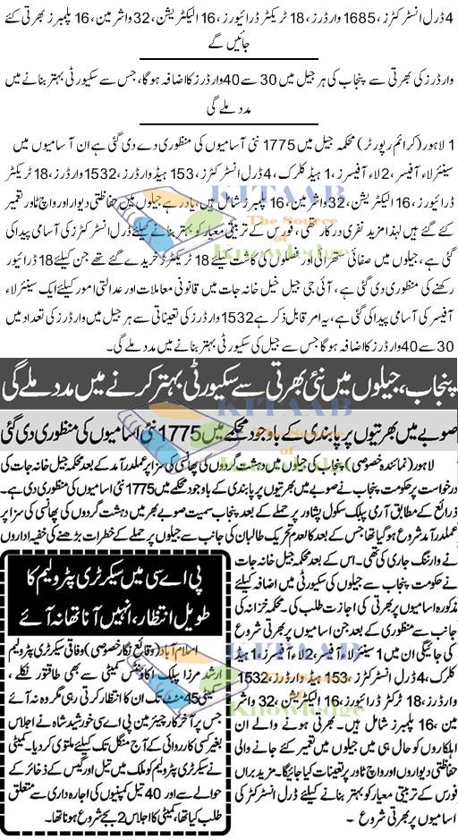 Punjab Jail Police Warder Jobs 2015 Application Form Eligibility Criteria Dates and List