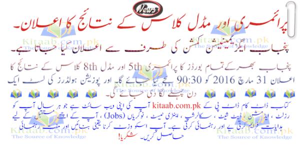 DG Khan Board PEC 8th Class Result 2019 Dera Ghazi Khan Layyah Muzaffargarh Rajanpur 8th Result 2017