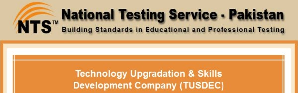 Technology Upgradation & Skills Development Company TUSDEC NTS Test Result 2015 Answer Key Roll Number Slips