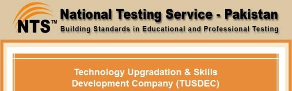 Technology Upgradation & Skills Development Company TUSDEC NTS Test Result 2021 Answer Key Roll Number Slips