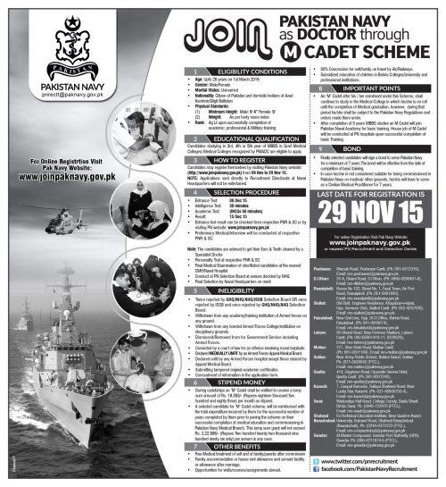 Join Pakistan Navy Through M Cadet Scheme 2015-16 Online Registration Eligibility Conditions & How To Apply