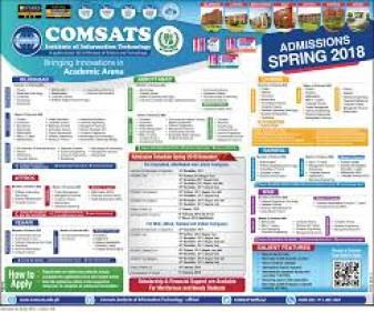 COMSATS University Admission 2019 Entry Test Dates Schedule Application Form Eligibility and How to Apply Online