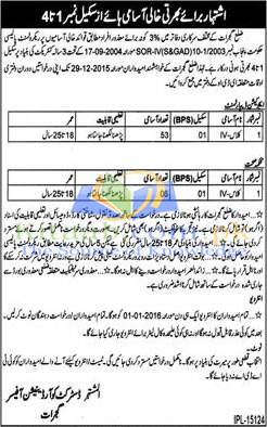 Health Department Gujrat Jobs 2015-16 on Disabled Quota for Class-IV Eligibility Criteria