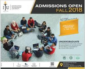 Information Technology University ITU Admission 2018 Form Dates & Schedule BSc-Engineering Computer Science