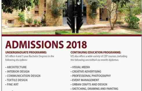 Indus Valley School of Arts and Architecture Karachi Admission 2018