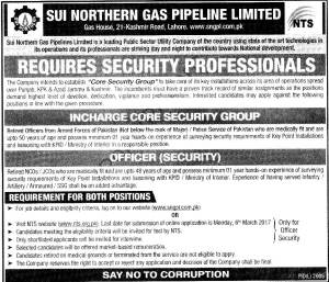 Sui Northern Gas Pipelines Limited SNGPL JObs 2017 NTS Screening Test Roll Number Slips Registration Form Download List of Candidates