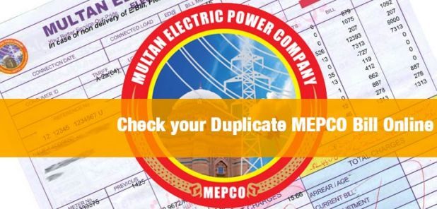 Download MEPCO Wapda Bill Duplicate Electricity Bill Download and Print Now